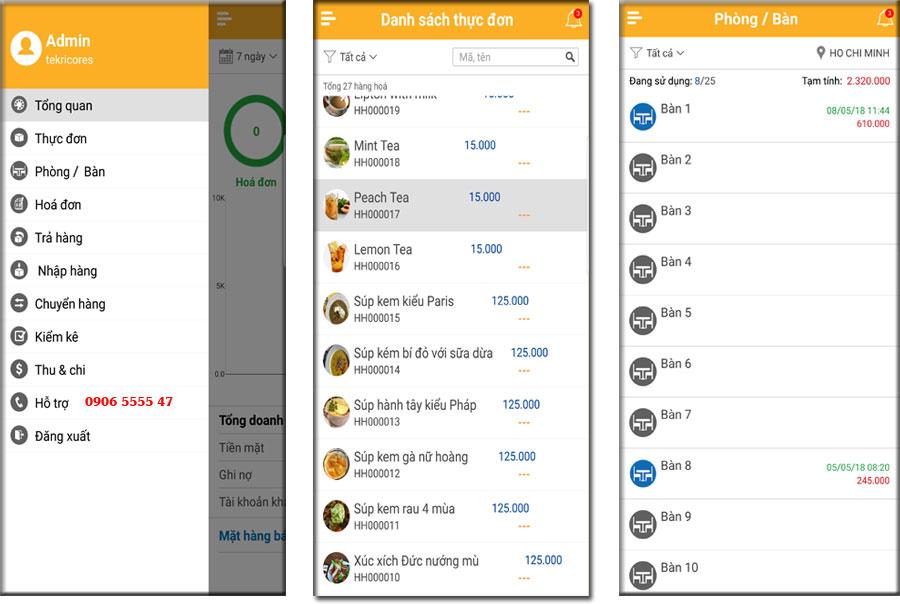 Các giao diện quản lý trên android và ios tương thích hầu hết tất cả các dòng điện thoại